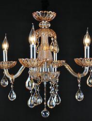 Chandeliers Crystal Retro Living Room Glass, 4 Light