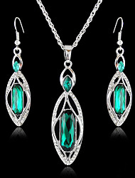 Women's European and American fashion major suit Earrings Necklace Set(1 set)8586-5