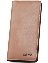 Men Formal Cowhide Without Zipper Wallets/Card & ID Holders