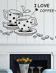 stickers muraux, stickers muraux de style café tasse pvc stickers muraux