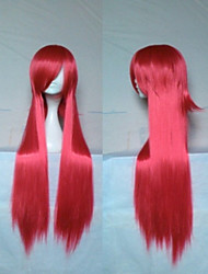Stylish Red Cosplay Wig 18 Inches Long Straight  Synthetic Hair  Animated Wigs Girl's Cartoon Wigs Party Wigs
