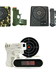 Novelty Battery Powered Infrared Laser Target Shooting Gun Alarm Clock-Best Gift For Kids