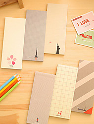 Beautiful Scenery Cute/Business/Multifunction Paper Notepads Creative Notebooks (Random Color)