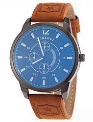 JUBAOLI Мужской Модные часы Кварцевый Кожа Группа
