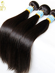 "4 Pcs Lot 8""-30"" Virgin Peruvian Straight Hair Weave Bundles Natural Black 1B# 5A Remy Human Hair Extensions Tangle Free"