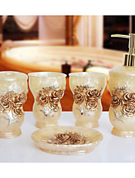 The Ou Rose Empire Pattern Bathroom Ware 5 Sets