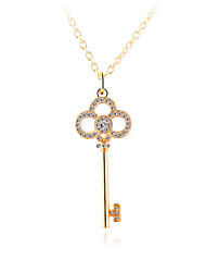 HUALUO®Korean Version of the Full Diamond Key Pendant Necklace