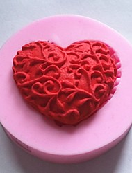 Bakeware Silicone Heart Baking Molds for Chocolate Cake Jelly (Random Colors)