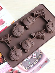 Fashion christmas pictures shape diy chocolate mold/silicone cake mold/cake decorating manufacture mold (Random Color)