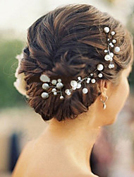 6pcs/lot Pearl Hairpins Headpieces for Wedding Party