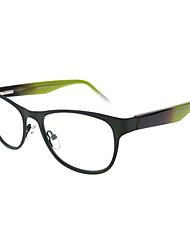 [lentes livres] wayfarer aço inoxidável full-jante óculos de grau retro