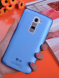 Pour Coque LG Plaqué Coque Coque Arrière Coque Couleur Pleine Dur Polycarbonate pour LG LG G3