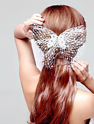 Butterfly Net Party Headpieces with Imitation Pearls