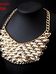 Handmade jewelry items Europe drawstring fake collar short necklace