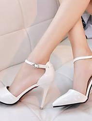 Stiletto - 6-9cm - Damenschuhe - Pumps/Heels ( Lackleder/Gummi , Rosa/Silber/Weiß )