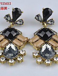 Korean version of the trend of the new alloy diamond earrings fashion wild ladies section