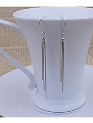 KIKI 925 silver long paragraph three line exaggerated fringe Earrings