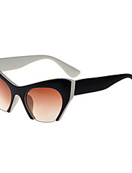 Sunglasses Women's Classic / Retro/Vintage / Sports Cat-eye Black / Brown / Black-white / Leopard Sunglasses Half-Rim