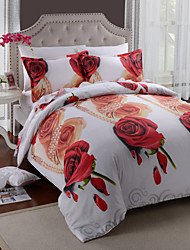 Duvet Cover Set,4 Piece Suit Bedding Sets Cotton Printed Bedclothes
