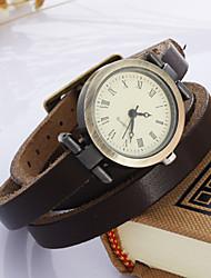 богемной Женские часы три кожаный часы (разных цветов)