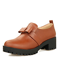 Women's Shoes  Chunky Heel Round Toe Loafers Outdoor/Office & Career/Casual Black/Brown/Yellow
