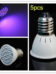 5pcs e27 3w 300lm 20red et smd36 16blue ampoules LED pour système de culture hydroponique de plantes à fleurs LED Grow Light (85-265V)