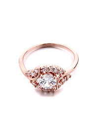 Women's Brass Fashion love CZ Ring (More Colors)