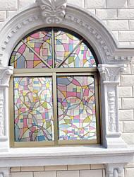 style européen film de fenêtre de film porte en verre de réfraction (100 * 90cm)
