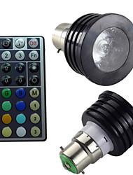 Spot Gradable/Commandée à Distance/Décorative RGB/Couleurs Changeantes SchöneColors 1 pièce B B22 4 W 1PCS LED Haute Puissance LMAC