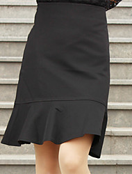 Women's Fashion Solid Color Ruffles OL Skirts(More Colors)