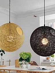 Country Simple Modern Restaurant lamp, Pastoral Rattan Lamp , Hemp Ball Chandelier