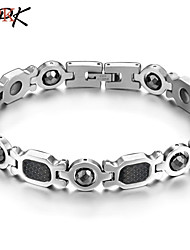 OPK®Fashion Titanium Steel Inlaid Black Gallstone Anti-radiation Anti-fatigue Health Bracelet