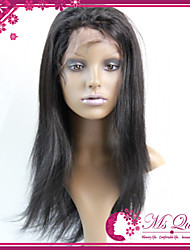 "Virgin Brazilian Human Hair Full Lace Wigs 130% Natural Color Remy Straight Swiss Lace Full Wigs Human Hair 10""-30"""