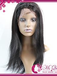 virgens brasileiras do cabelo humano perucas cheias do laço 130% de cores naturais Remy retas laço suíço perucas cheias do cabelo humano