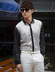Black&White Cotton Tailorde Fit Shirt