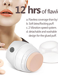 Portable Washable 4D Vibration Powder Puff White