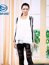CANIS@Women's Chiffon Long Sleeve Regular Blouse (Chiffon/Polyester)