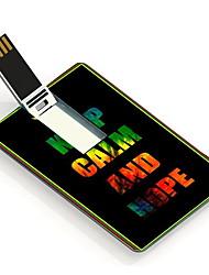 64GB Keep Calm and Hope Design Card USB Flash Drive