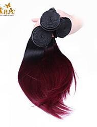 "3pcs / lot 10 ""-24"" pelo virginal indio 100g / piece el pelo humano recto del color 1b / 99j teje"