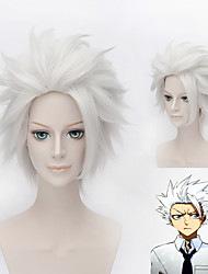 BLEACH Hitsugaya Toushirou Silvery White High-temperature Wire Cosplay Wig