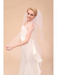Wedding Veil Three-tier Elbow Veils Cut Edge
