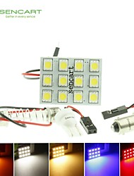 T10  BA9S SV8.5 G4 LED  2.5W  Blue/Red/Warm White/Yellow/White 12X5050SMD LED 140LM  for Car Light Bulb  (DC12-16V)