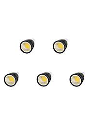 9W GU10 LED Spot Lampen MR16 1 COB 750-800 lm Warmes Weiß / Kühles Weiß Dimmbar AC 220-240 V 5 Stück