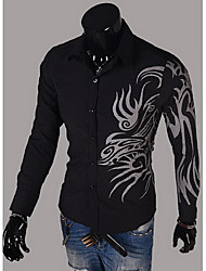 Chemises informelles ( Coton/Lycra/Polyester ) Informel/Soirée/Travail Col chemise à Manches longues pour Homme