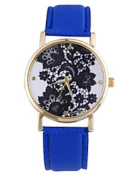Women's Fashion Belt Pattern Literal Round Belt Movement Watch China(Assorted Colors)