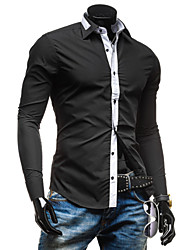 High-Quality Chinese Style Mens Shirts Fashion 2015 Long-Sleeve Shirt 2 Color