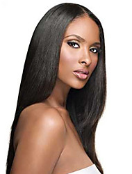 Women Lace Front Wig 10inch~24inch India Hair Color(#1 #1B #2 #4) Straight Hair