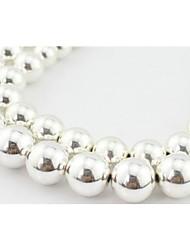 Double Ball Short Necklaces 1pc