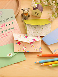 6 PCS Candy Letter Cute/Business/Multifunction Paper Notepads Creative Notebooks Card Postcards