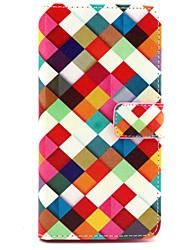 Pour Coque LG Etuis coque Porte Carte Portefeuille Avec Support Clapet Coque Intégrale Coque Forme Géométrique Dur Cuir PU pour LG